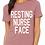 Thumbnail: Resting Nurse Face women's relax Maroon tee