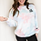 """Thumbnail: Unisex """"I came I cared"""" Cotton-candy tie dye sweater"""