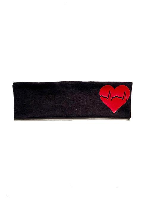 EKG Heart Headband