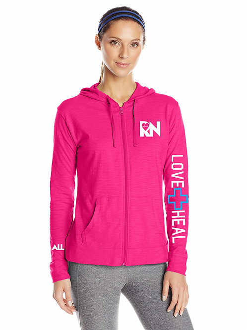 New Love heal RN women's lightweight hoodie