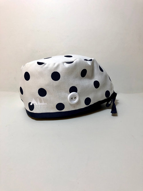 Polkadot scrub cap