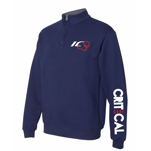 ICU men's Navy Quarter-Zip Sweater
