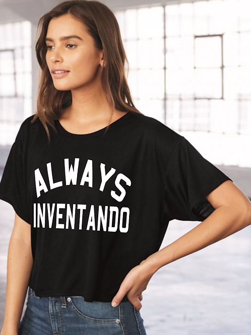 Always Inventando Boxy women's tee