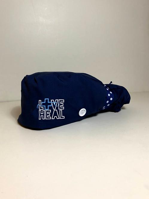 Love Heal Navy Scrub Cap