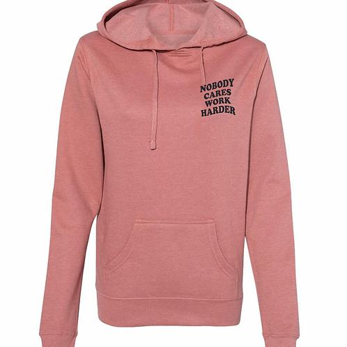 Nobody Cares Fleece Lightweight Hooded Sweatshirt