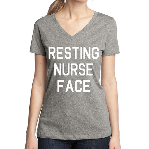 Resting Nurse Face women's v-neck tee