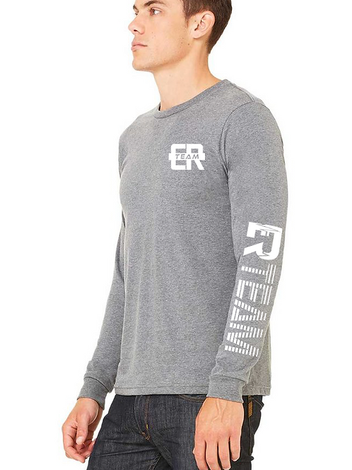 ER unisex long sleeve grey tee