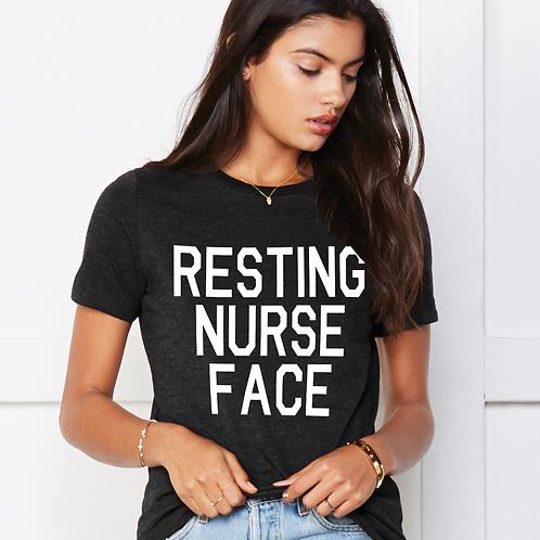 Resting Nurse Face Women's soft Tee