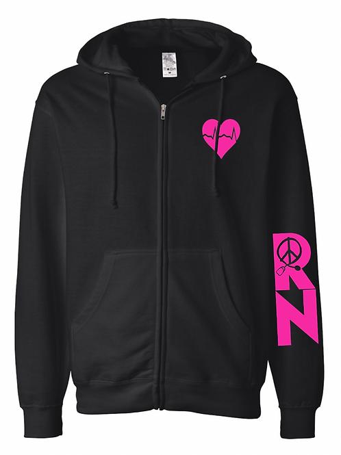 RN Love black hoodie