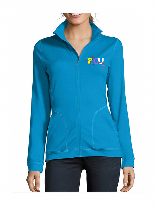New PICU Women's collared blue jacket
