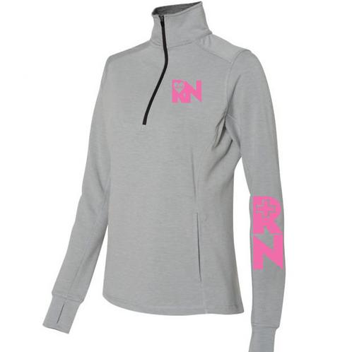 New RN Quarter-Zip Women's Pullover