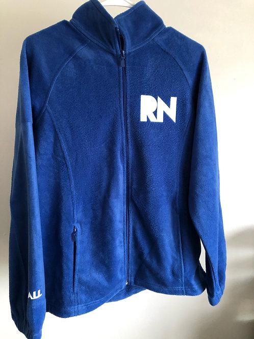 RN Women's blue fleece jacket