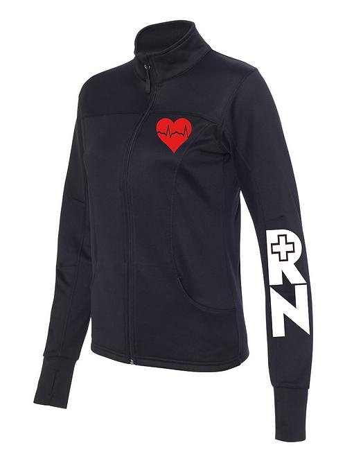 EKG collared women's jacket