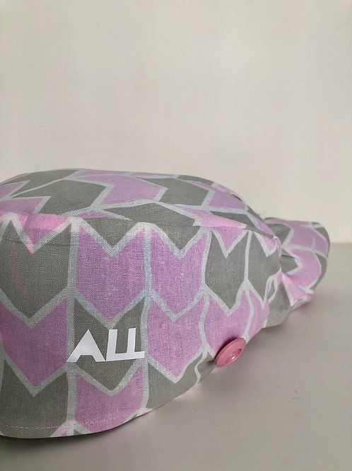 Pink pattern ponytail Scrub cap
