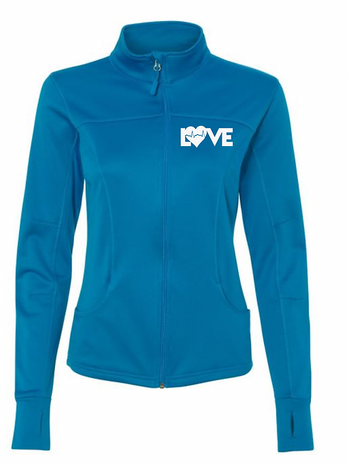 Love RN Teal collared jacket