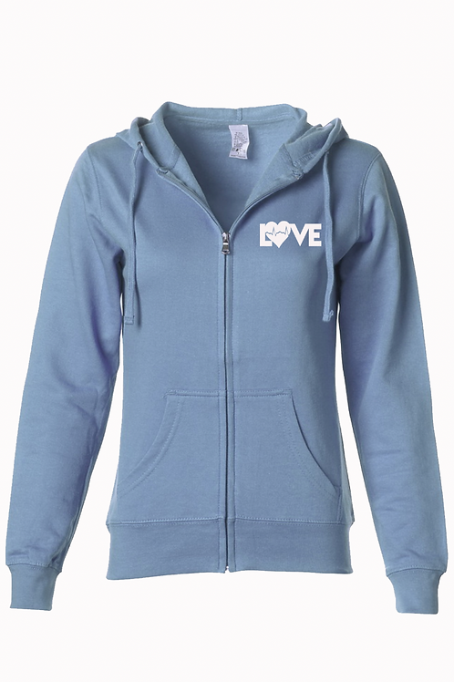 New Hope women's Lightweight Misty blue Hoodie