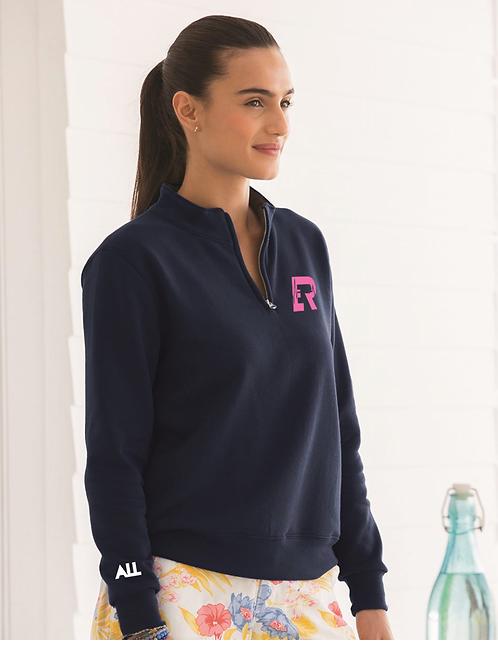 ER Women's Quarter-Zip Navy Sweatshirt