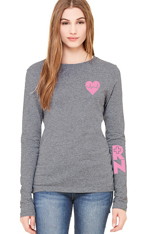 Women's RN grey long sleeve tee