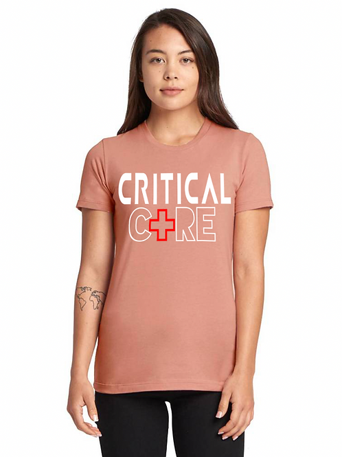 New ICU Women's Pink triblend tee