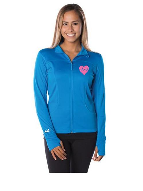 New EKG Blue women's collared jacket