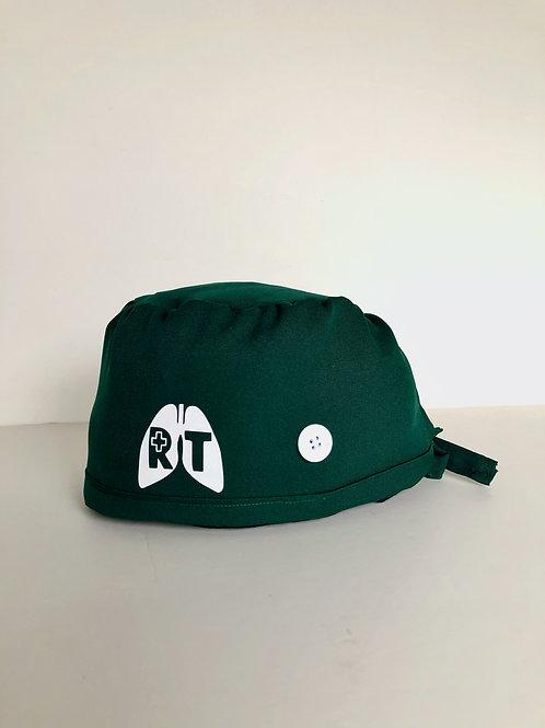 RT hunter green scrub cap