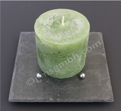 Lapis QB 20 x 20 - grüne Kerze
