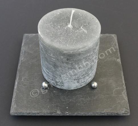 Lapis QB 20 x 20 - mit anthrazitfarbener  Kerze