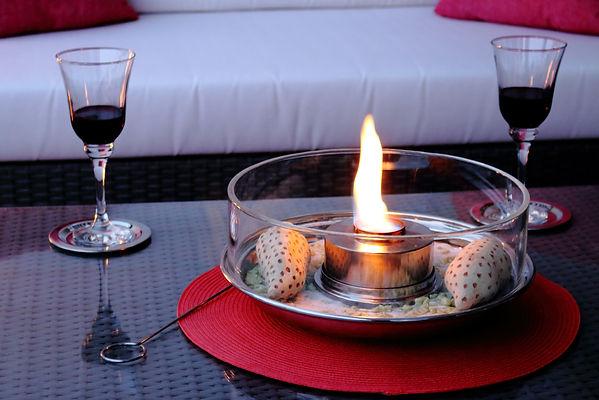 Ardonell Tischfeuer für stimmungsvolle Beleuchtung in abendlicher Dämmerung