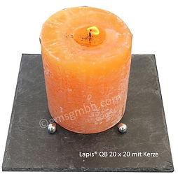 Lapis Schiefertafel mit Kerze