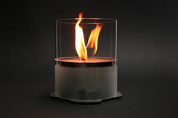 Captix Windlicht CeraFlare mit satiniertem Glas