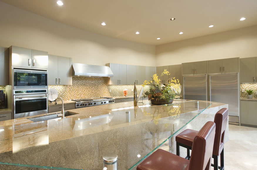 Kitchen granite and glass