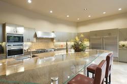 Kitchen granite and glass