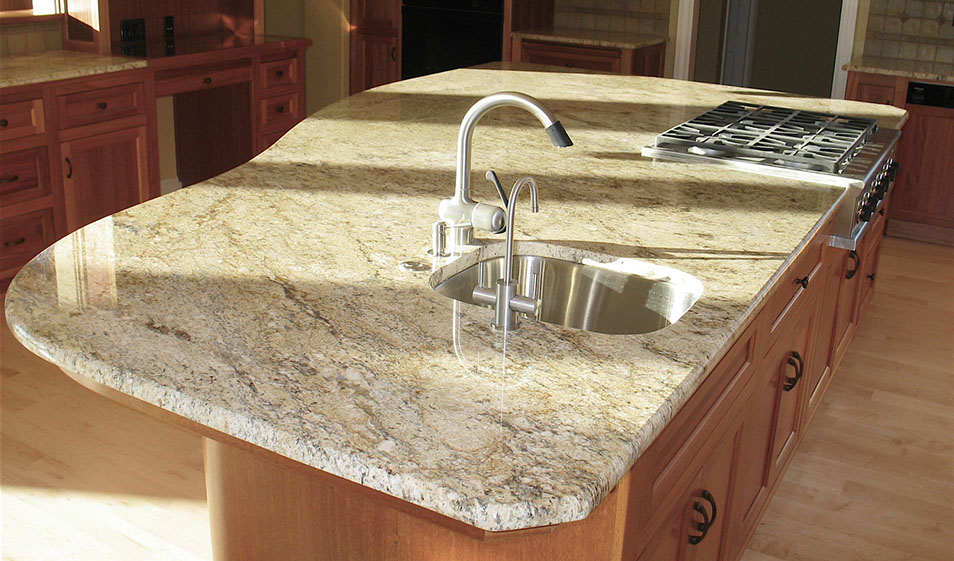 kitchen giallo rio granite