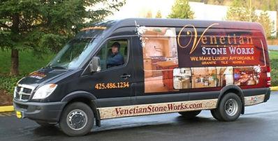 Venetian Stone Works Van