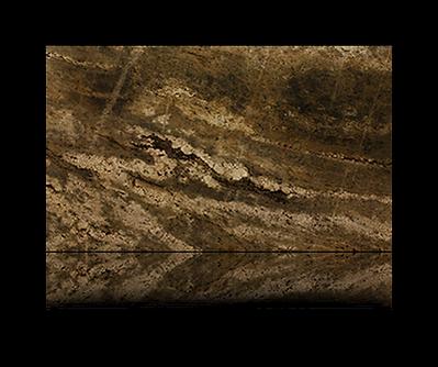 Countertop manufactured with Brown Granite
