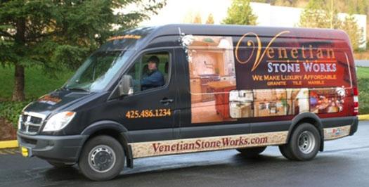 Venetian Stone Works Truck