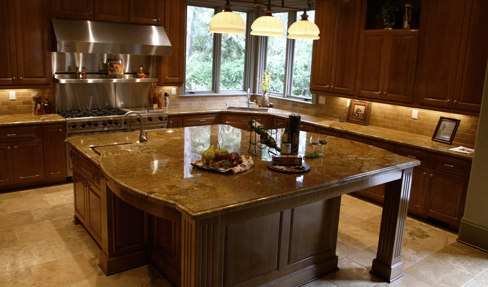 kitchen copper canyon granite