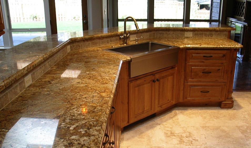 kitchen travertine floor