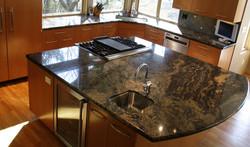 kitchen blue barracuda granite