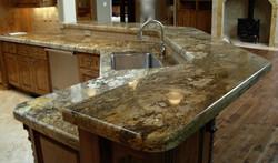 kitchen giallo persia granite