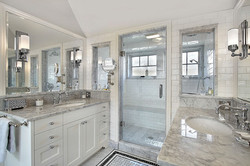 Bath master bath with windowed shower