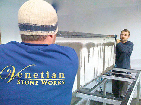Venetian Stone Works installation team