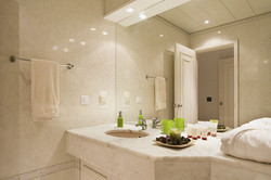 Bath travertine vanity