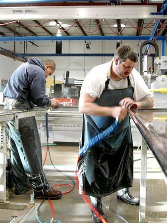 Venetian Stone Works Hand Finishing and Inspection