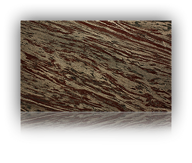 Countertop manufactured with Brown Granite