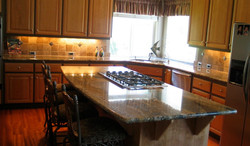 kitchen travertine splash