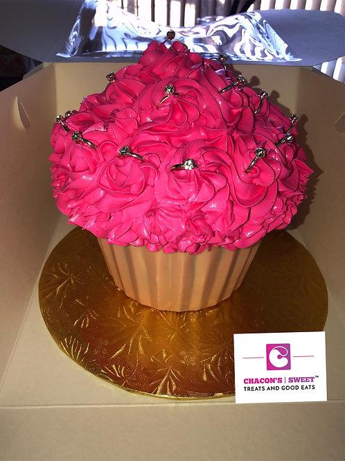 Giant Bridal Cupcakes