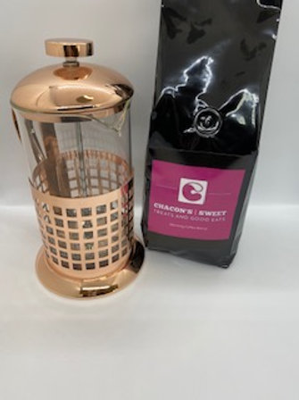 Chacons Morning Blend with Copper French Press