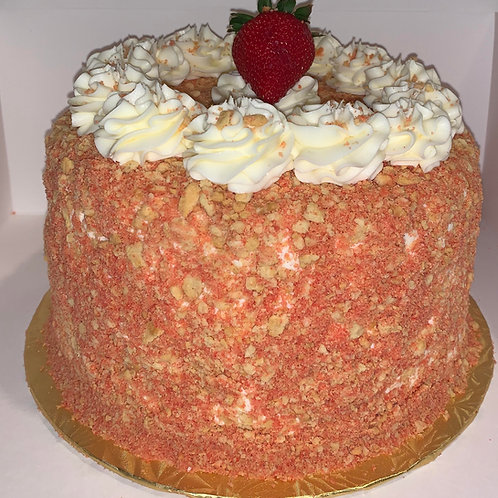 Strawberry crunch cake/Strawberry crunch cake cheese cake