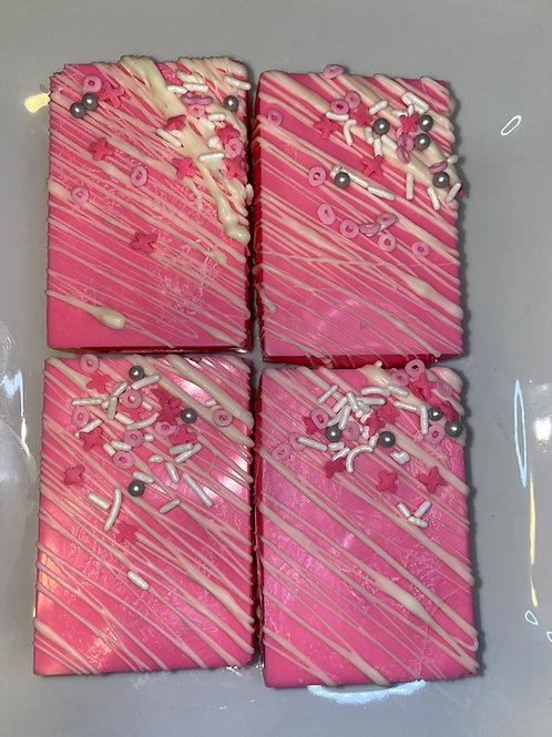 Chocolate Covered Rice Krispy Pops